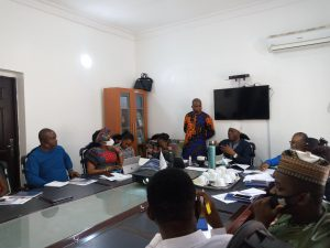Cross section of participants at the training